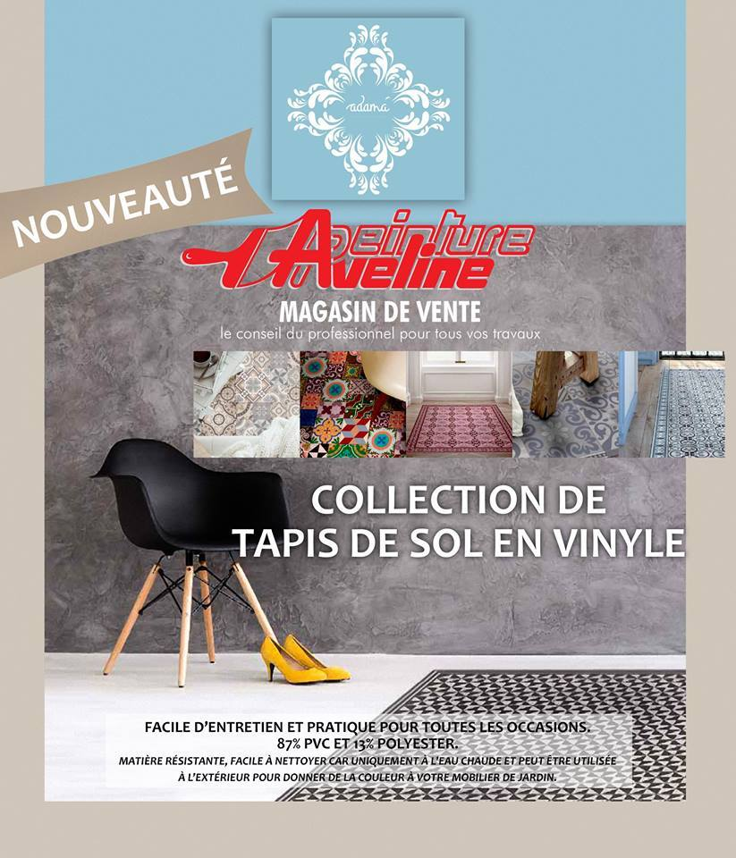 nouveau tapis de sol vinyle aveline b timent enseignes et textile. Black Bedroom Furniture Sets. Home Design Ideas